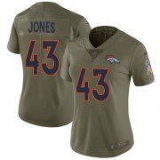 Wholesale Cheap Nike Broncos #43 Joe Jones Olive Women's Stitched NFL Limited 2017 Salute To Service Jersey