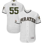 Wholesale Cheap Pittsburgh Pirates #55 Josh Bell Majestic Alternate Authentic Collection Flex Base Player Jersey White