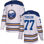 Wholesale Cheap Adidas Sabres #77 Pierre Turgeon White Authentic 2018 Winter Classic Stitched NHL Jersey