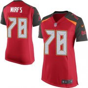 Wholesale Cheap Nike Buccaneers #78 Tristan Wirfs Red Team Color Women's Stitched NFL New Elite Jersey