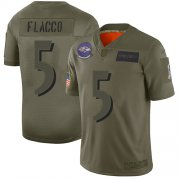 Wholesale Cheap Nike Ravens #5 Joe Flacco Camo Youth Stitched NFL Limited 2019 Salute to Service Jersey