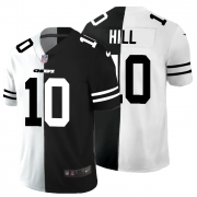 Cheap Kansas City Chiefs #10 Tyreek Hill Men's Black V White Peace Split Nike Vapor Untouchable Limited NFL Jersey