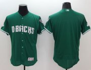 Wholesale Cheap Diamondbacks Blank Green Celtic Flexbase Authentic Collection Stitched MLB Jersey
