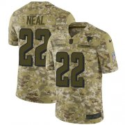 Wholesale Cheap Nike Falcons #22 Keanu Neal Camo Men's Stitched NFL Limited 2018 Salute To Service Jersey