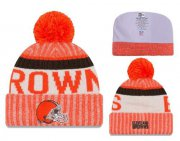 Wholesale Cheap NFL Cleverland Browns Logo Stitched Knit Beanies 002