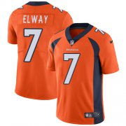 Wholesale Cheap Nike Broncos #7 John Elway Orange Team Color Youth Stitched NFL Vapor Untouchable Limited Jersey
