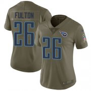 Wholesale Cheap Nike Titans #26 Kristian Fulton Olive Women's Stitched NFL Limited 2017 Salute To Service Jersey