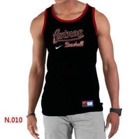 Wholesale Cheap Men\'s Nike Houston Astros Home Practice Tank Top Black