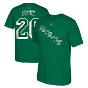 Wholesale Cheap New York Rangers #26 Jimmy Vesey Reebok St. Paddy's Day Name & Number T-Shirt Green