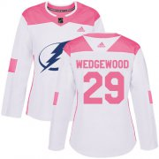Cheap Adidas Lightning #29 Scott Wedgewood White/Pink Authentic Fashion Women's Stitched NHL Jersey