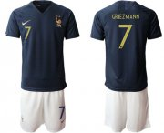 Wholesale Cheap France #7 Griezmann Home Soccer Country Jersey