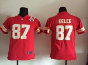 Wholesale Cheap Nike Chiefs #87 Travis Kelce Red Team Color Youth Stitched NFL Elite Jersey