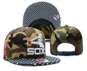 Wholesale Cheap MLB Chicago White Sox Snapback Ajustable Cap Hat 5