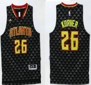 Wholesale Cheap Men's Atlanta Hawks #26 Kyle Korver Revolution 30 Swingman 2015-16 New Black Jersey