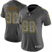 Wholesale Cheap Nike Vikings #98 Linval Joseph Gray Static Women's Stitched NFL Vapor Untouchable Limited Jersey