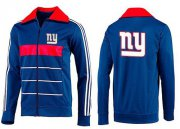 Wholesale Cheap NFL New York Giants Team Logo Jacket Blue_4