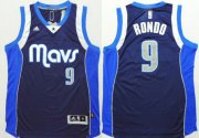 Wholesale Cheap Dallas Mavericks #9 Rajon Rondo Revolution 30 Swingman 2014 New Navy Blue Jersey