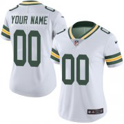 Wholesale Cheap Nike Green Bay Packers Customized White Stitched Vapor Untouchable Limited Women's NFL Jersey