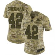 Wholesale Cheap Nike Chiefs #42 Anthony Sherman Camo Women's Stitched NFL Limited 2018 Salute to Service Jersey