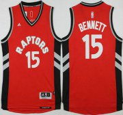 Wholesale Cheap Men's Toronto Raptors #15 Anthony Bennett Revolution 30 Swingman 2015-16 New Red Jersey