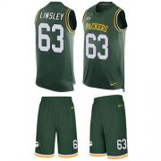 Wholesale Cheap Nike Packers #63 Corey Linsley Green Team Color Men's Stitched NFL Limited Tank Top Suit Jersey