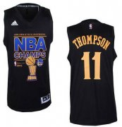 Wholesale Cheap Men's Golden State Warriors #11 Klay Thompson Revolution 30 Swingman 2015 Champions Fashion Black Jersey