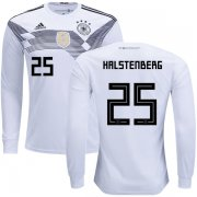 Wholesale Cheap Germany #25 Halstenberg Home Long Sleeves Kid Soccer Country Jersey