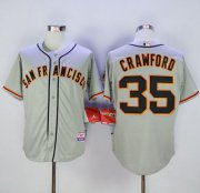 Wholesale Cheap Giants #35 Brandon Crawford Grey Cool Base Road Stitched MLB Jersey