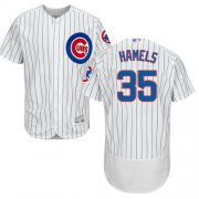 Wholesale Cheap Cubs #35 Cole Hamels White Flexbase Authentic Collection Stitched MLB Jersey