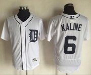 Wholesale Tigers #6 Al Kaline White Flexbase Authentic Collection Stitched Baseball Jersey
