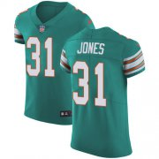 Wholesale Cheap Nike Dolphins #31 Byron Jones Aqua Green Alternate Men's Stitched NFL New Elite Jersey