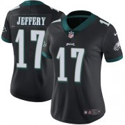 Wholesale Cheap Nike Eagles #17 Alshon Jeffery Black Alternate Women's Stitched NFL Vapor Untouchable Limited Jersey