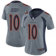 Wholesale Cheap Nike Broncos #10 Jerry Jeudy Gray Women's Stitched NFL Limited Inverted Legend Jersey