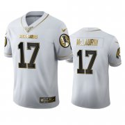 Wholesale Cheap Washington Redskins #17 Terry McLaurin Men's Nike White Golden Edition Vapor Limited NFL 100 Jersey