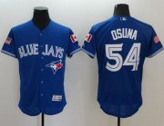 Wholesale Cheap Blue Jays #54 Roberto Osuna Blue Fashion Stars & Stripes Flexbase Authentic Stitched MLB Jersey