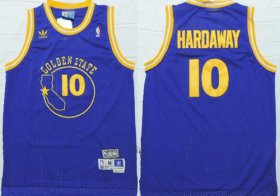 Wholesale Cheap Golden State Warriors #10 Tim Hardaway Blue Swingman Throwback Jersey