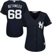 Wholesale Cheap Yankees #68 Dellin Betances Navy Blue Alternate Women's Stitched MLB Jersey