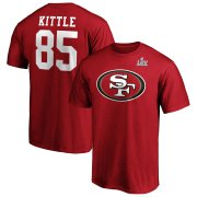 Wholesale Cheap Men's San Francisco 49ers #85 George Kittle NFL Scarlet Super Bowl LIV Bound Big & Tall Halfback Player Name & Number T-Shirt
