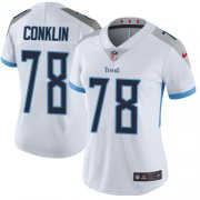 Wholesale Cheap Nike Titans #78 Jack Conklin White Women's Stitched NFL Vapor Untouchable Limited Jersey