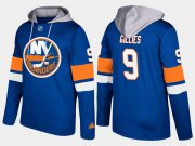 Wholesale Cheap Islanders #9 Clark Gillies Blue Name And Number Hoodie