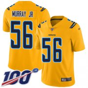 Wholesale Cheap Nike Chargers #56 Kenneth Murray Jr Gold Men's Stitched NFL Limited Inverted Legend 100th Season Jersey