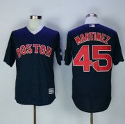 Wholesale Cheap Red Sox #45 Pedro Martinez Navy Blue New Cool Base Stitched MLB Jersey