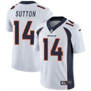 Wholesale Cheap Nike Broncos #14 Courtland Sutton White Men's Stitched NFL Vapor Untouchable Limited Jersey