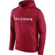 Wholesale Cheap Men's Atlanta Falcons Nike Red Circuit Wordmark Essential Performance Pullover Hoodie
