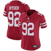 Wholesale Cheap Nike 49ers #92 Kerry Hyder Red Team Color Women's Stitched NFL Vapor Untouchable Limited Jersey