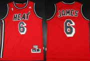 Wholesale Cheap Miami Heat #6 LeBron James ABA Hardwood Classics Swingman Red Jersey