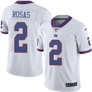 Wholesale Cheap Nike Giants #2 Aldrick Rosas White Men's Stitched NFL Limited Rush Jersey