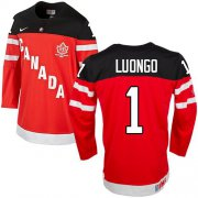 Wholesale Cheap Olympic CA. #1 Roberto Luongo Red 100th Anniversary Stitched NHL Jersey