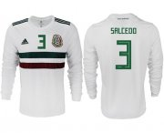 Wholesale Cheap Mexico #3 Salcedo Away Long Sleeves Soccer Country Jersey