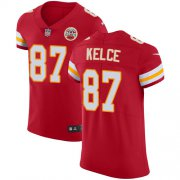 Wholesale Cheap Nike Chiefs #87 Travis Kelce Red Team Color Men's Stitched NFL Vapor Untouchable Elite Jersey